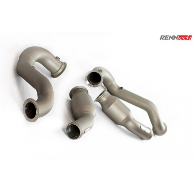 RENNtech Downpipes w/200 Cell Sport Cats