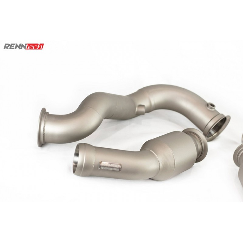 RENNtech | Downpipes w/200 Cell Sport Catalytic Converter | W205 | C