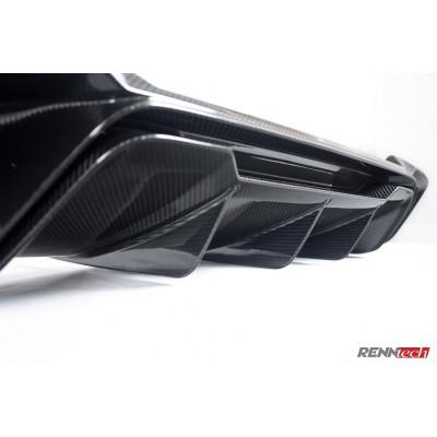 RENNtech Carbon Fiber Rear Diffuser w/ CMC Tips