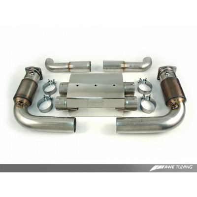 AWE Tuning Turbo Back Exhaust for 997TT