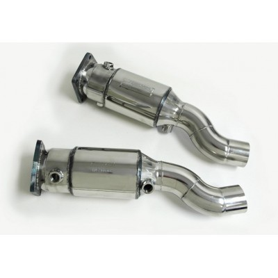 AWE 997TT Muffler Delete Set with 200 Cell Cats
