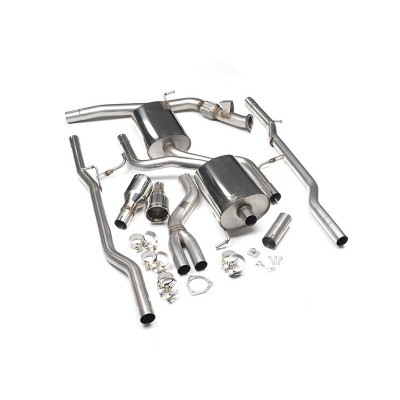 Milltek 2.0T Quattro Cat Back Exhaust Non Resonated