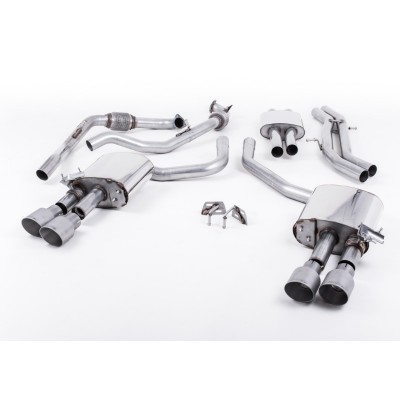 Milltek B9 S4 Cat Back Res Exhaust GT-100 Tips