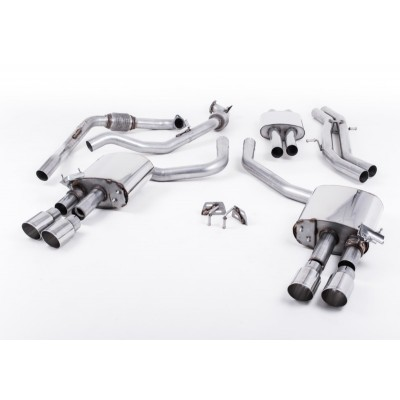 Milltek B9 S4 Cat Back Res Exhaust GT-90 Tips