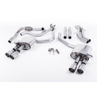 Milltek B9 S4 Cat Back Non-Res Exhaust GT-90 Tips