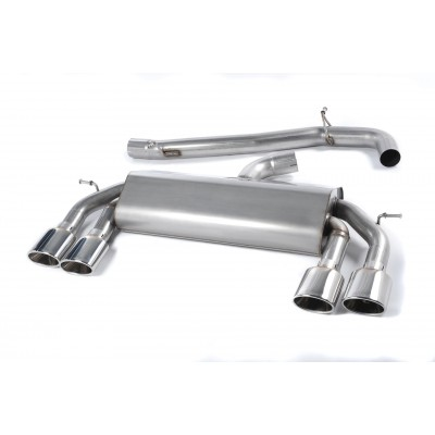 Milltek MK7 Golf R Cat Back Exhaust Non Valved Race Version