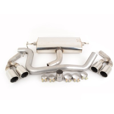 Milltek 2.0T FWD Quad Tipped Cat-Back Exhaust