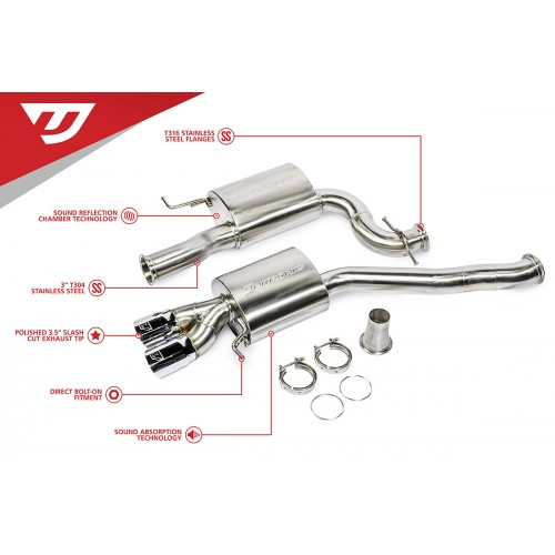 Unitronic Cat-Back Exhaust System for Jetta GLI