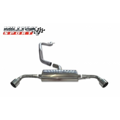 Milltek TT 2.0T FWD Black Oval Tipped Cat-Back Exhaust
