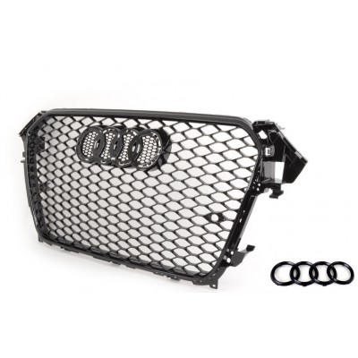 RS4 Gloss Black Mesh Style Grille